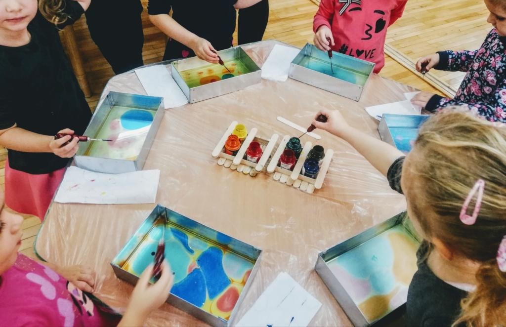 Animacje dla dzieci - malowanie na wodzie Szczecin