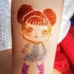 Tatuaże brokatowe animacje dla dzieci Szczecin