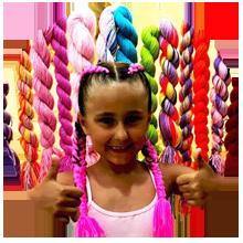 Kolorowe warkoczyki na imprezę dla dzieci Szczecin
