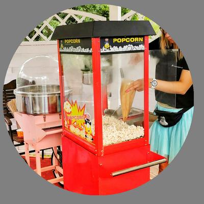 Wata cukrowa i popcorn na imprezy dla dzieci Szczecin